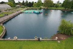 Kew Garden happily overdosing on Pond Blue lake dye