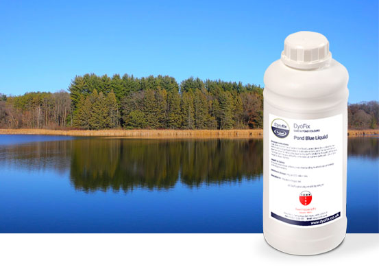 Concentrate liquid blue commercial pond dyes