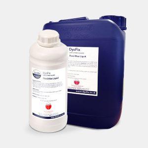 Dyofix pond blue liquid bottles