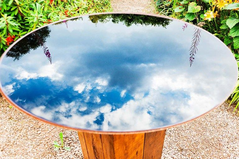 Reflecting The Sky In The Bird Bath Dyofix