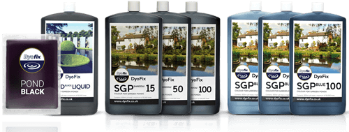 Dyofix dyes for small garden ponds and lakes