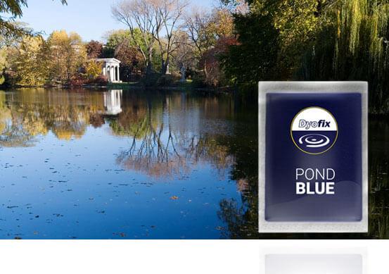 The original pond blue commercial pond dye